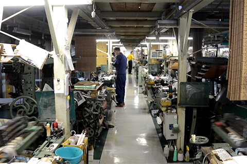 製織工場の写真