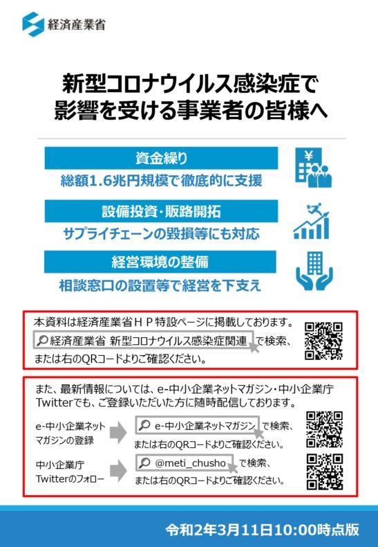 新型コロナウイルス感染症に関する緊急対応策(中小企業向けパンフレット)について
